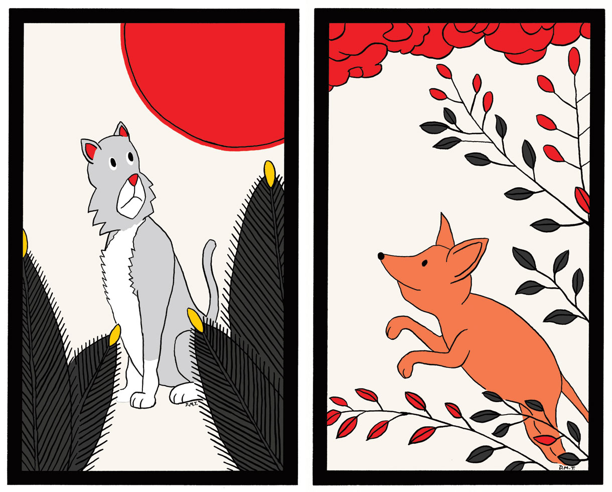 Hanafuda cards, based on my pets