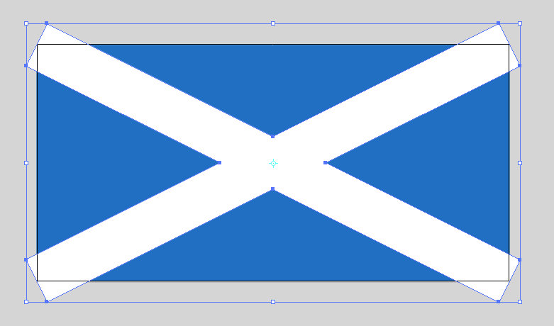 Pathfinder Unite creates a single saltire shape