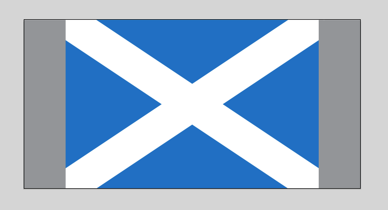 2:3 ratio flag of Scotland on a 1000 pixel wide artboard