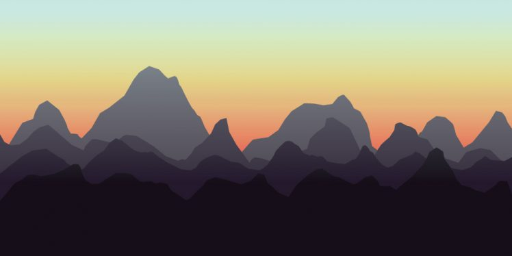 Mountain Range, sunset