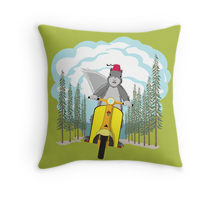 Breakaway printed on a throw pillow