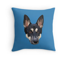 Digital Dog artwork printed on throw pillow