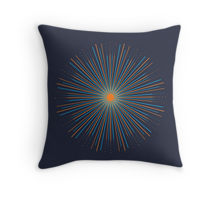 Sunburst artwork printed on throw pillow