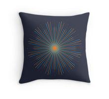 Sunburst artwork printed on throw pillow