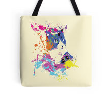 Color Splash Cat design decorating a Redbubble tote bag