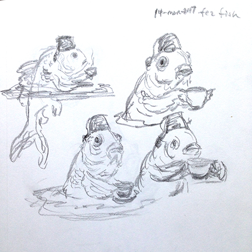 Sketches of the fez fish, part 1 of 2