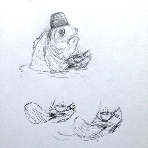 Sketches of the fez fish, part 2 of 2