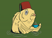 Redbubble version of the fez fish