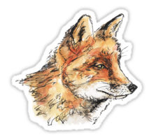 Fox casual design decorating a Redbubble sticker