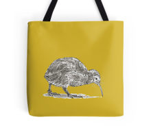 Kiwi bird design decorating a Redbubble tote bag