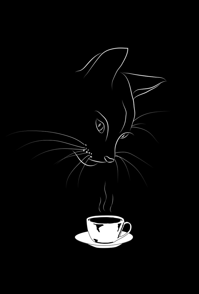 Society6 version of Coffee Cat