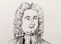 Drawing of Jonathan Swift