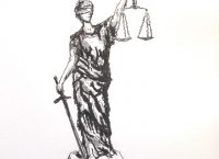 Drawing of Lady Justice