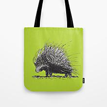 Porcupine society6 tote bag