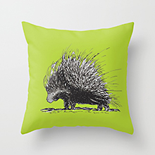Porcupine society6 throw pillow
