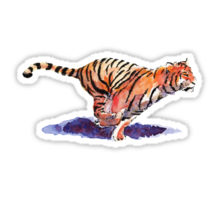 Redbubble tiger sticker