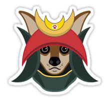 Redbubble Daimyo Dog stucker