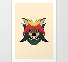 Society6 Daimyo Dog art print