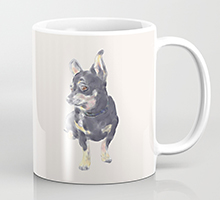 Society6 little dog waiting coffee mug