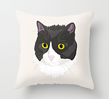 Society6 Casual Cat throw pillow