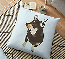 Redbubble hopeful dog floor pillow