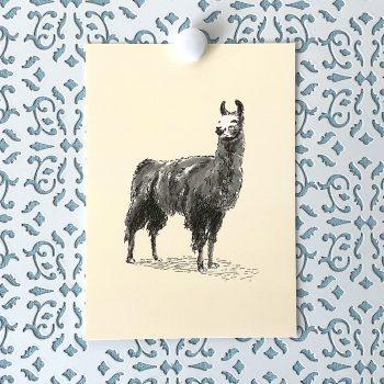Llama 5x7 art print