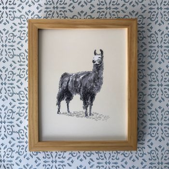 Happy Llama 8x10 print at Etsy