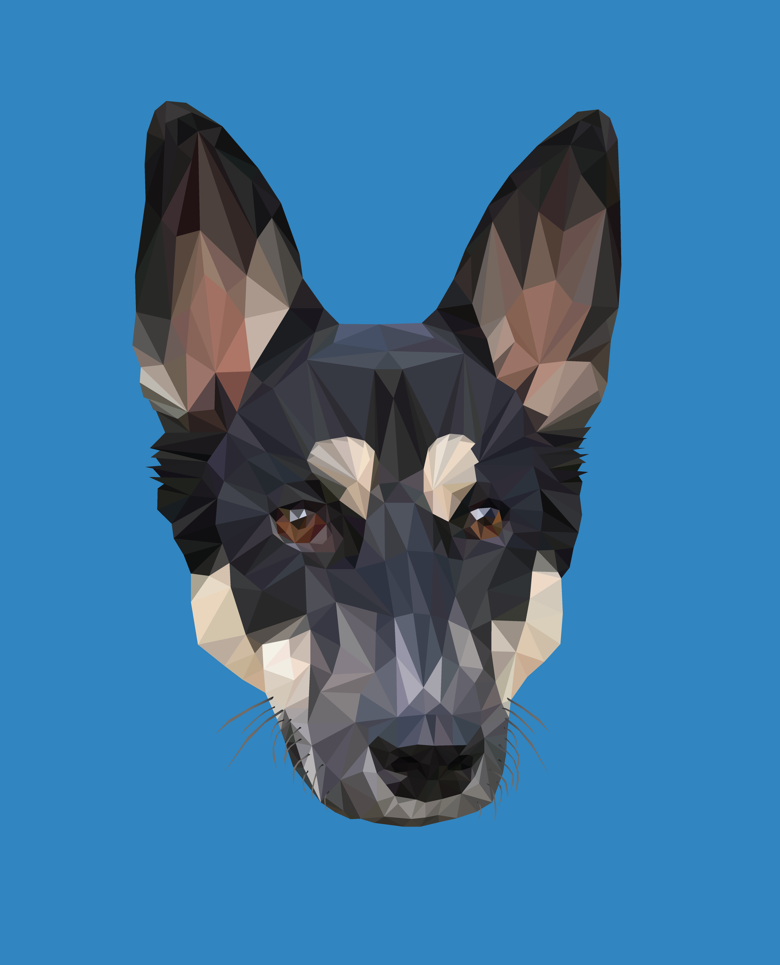 Low Poly Dog Illustration