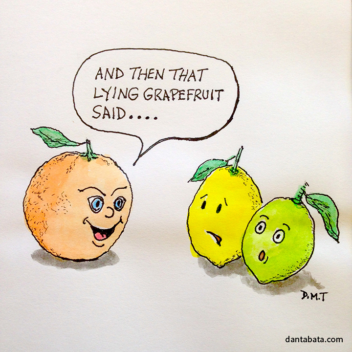 Gossiping citrus fruit
