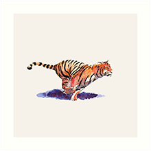 Redbubble art print of the tiger