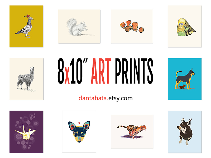 Ten new 8x10 prints in Dan's Etsy shop
