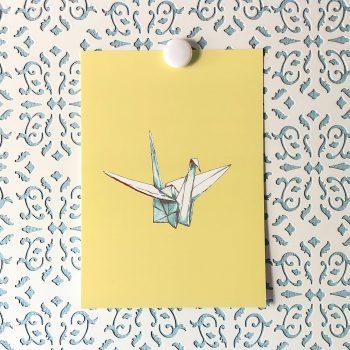 Paper Crane 5x7 art print