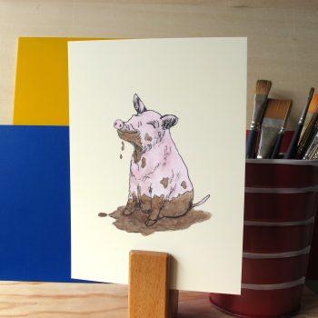 Filthy pig 5x7 art print
