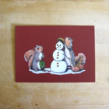 5x7 Holiday Trimmings festive red art print