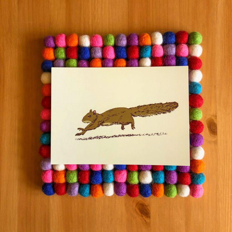 Sprinting Squirrel 5x7 print