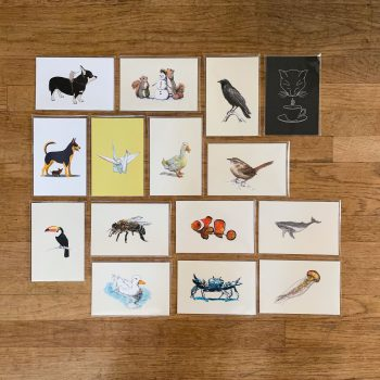 15 Animal Postcard Set