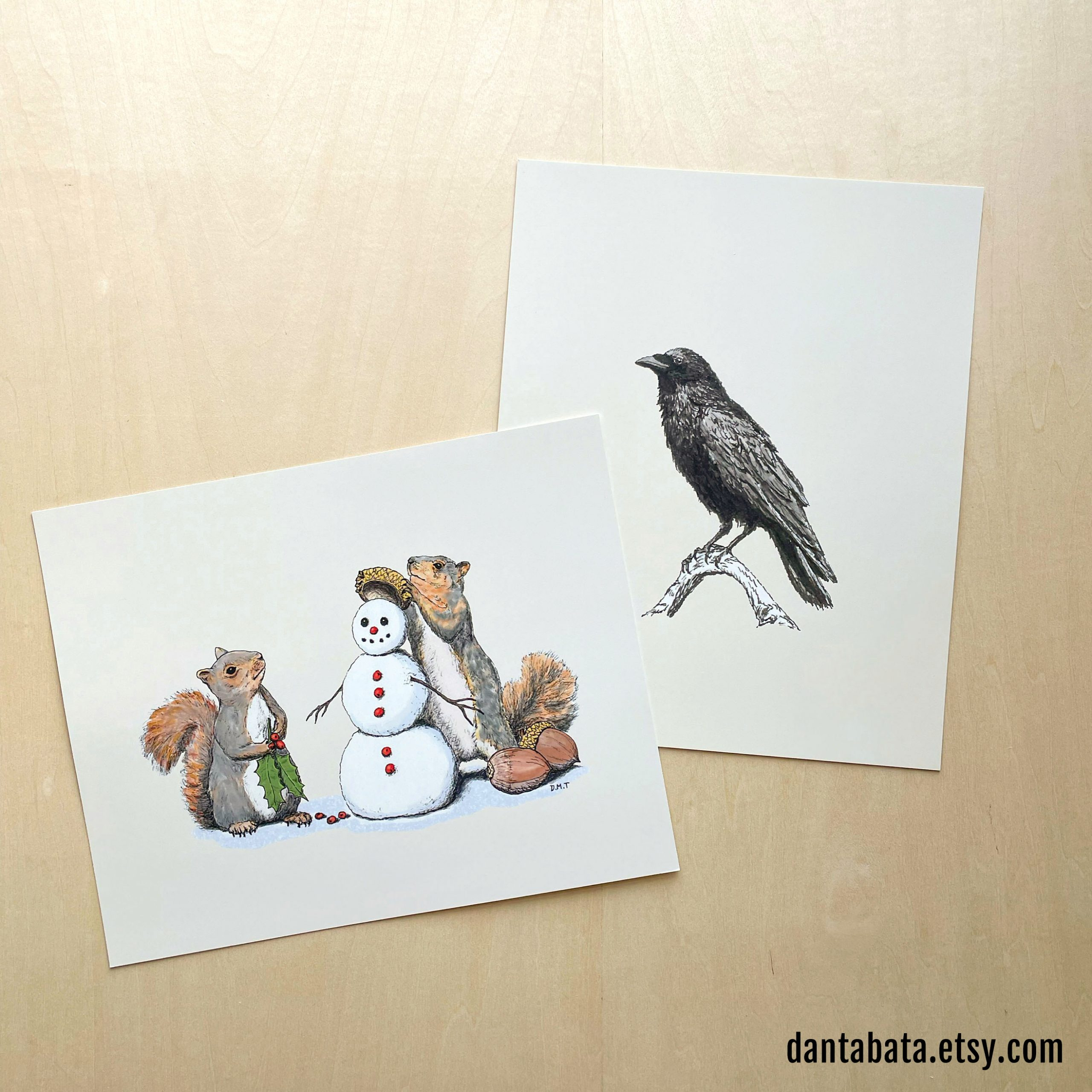 Holiday Trimmings and Raven M 8x10 prints